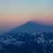 Утренняя тень от Эльбруса с высоты 5200 метров.