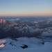 Утренний свет над горами Кавказа.
