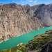 Значительная часть Джунгарского Алатау находится на территории Китая, причем государственная граница с Казахстаном в некоторых местах проходит весьма причудливо. К примеру она делит пополам очень красивое горное озеро Казанколь. Горы на левом берегу водоема - это уже Китай.