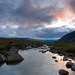 Холодная морось рассеялась ненадолго, и вдали показалось озеро Большая Имандра и горы Мончетундры