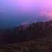 Дошли до поляны Шестакова, есть вода, и после ливня, высунув нос из палатки , увидели нереальные краски заката