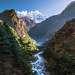 Dudh Koshi river on the way to Namche Bazaar, Himalaya, Nepal