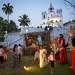 Рождественская композиция у церкви Непорочного зачатия. Панаджи, Северный Гоа.