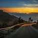 Mountain road in the Rhodope Mountains Bulgaria