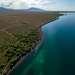 Свое название озеро получило из-за неоднородности воды. В южно-западной части она чистая и очень прозрачная. В северо-восточной - мутная. Берега там состоят из обширных отложений глины.