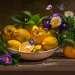 С лимонами и цветами