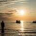 Возвращение с утренней рыбалки.
