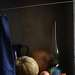 Синяя лампа и тыквы