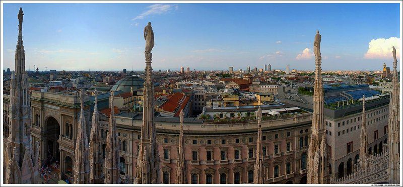 милан, италия, панорама Милан (панорама)photo preview