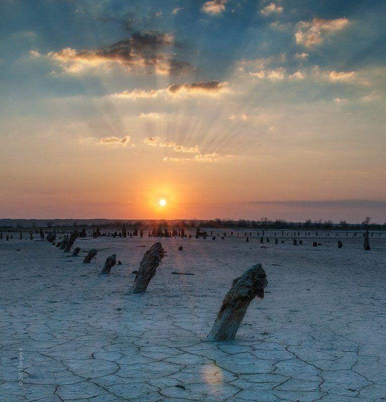 куяльницкий, лиман, одесса, закат, апрель Закат над Куяльницким лиманомphoto preview