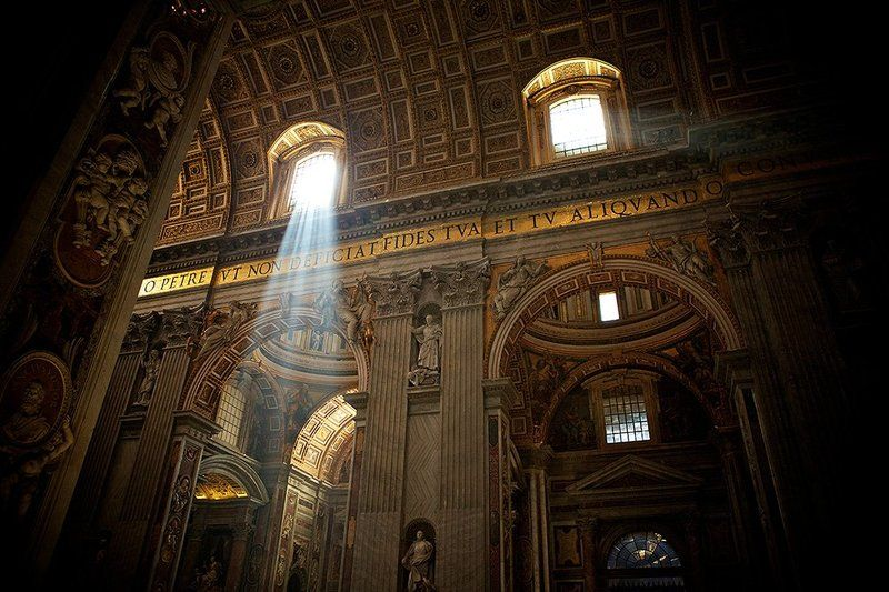 Cathedral, Golden, Italy, Light, Peter, Rome, St, Vatican, Window St. Peter\'s Cathedralphoto preview