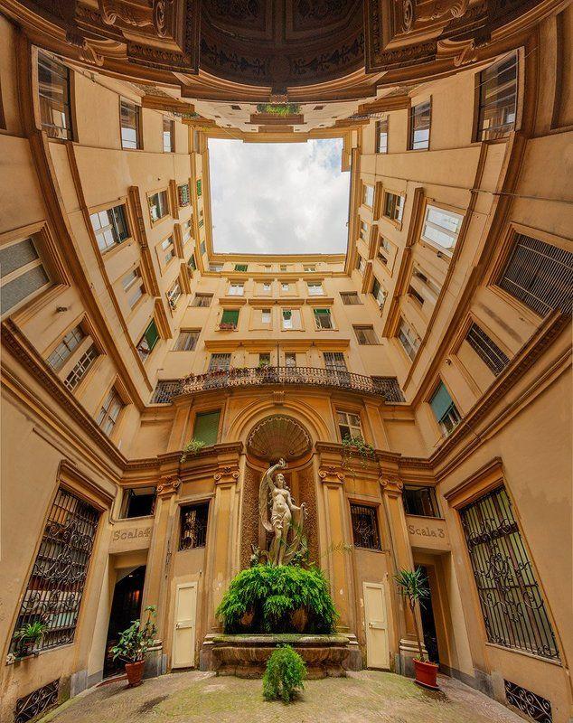 панорама, архитектура, город, рим, италия Римский дворикphoto preview