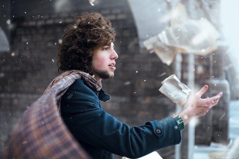 Драма, Зима, Мужчина, Портрет, Снег Он был мой Север, Юг, мой Запад, мой Восток..photo preview
