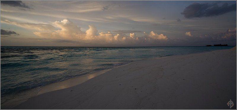 мальдивы, острова, закат Закатphoto preview