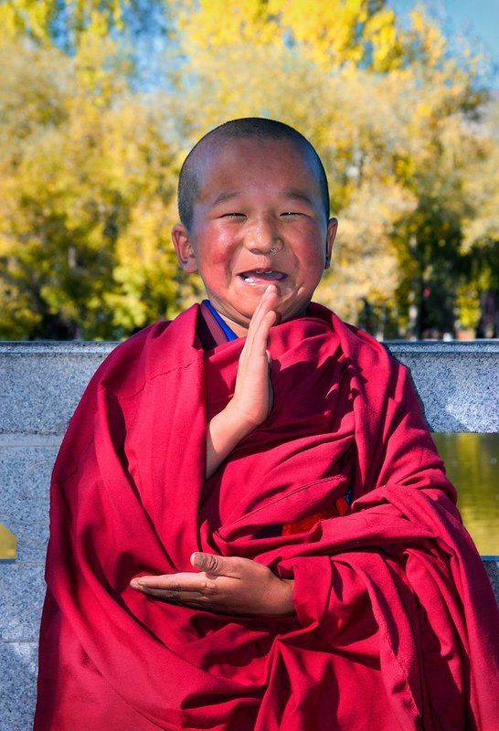 буддизм, лхаса, монах, тибет, улыбка Портрет смешного монахаphoto preview