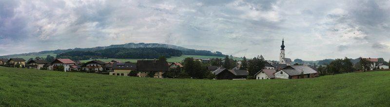 Панорамка австрийской деревниphoto preview