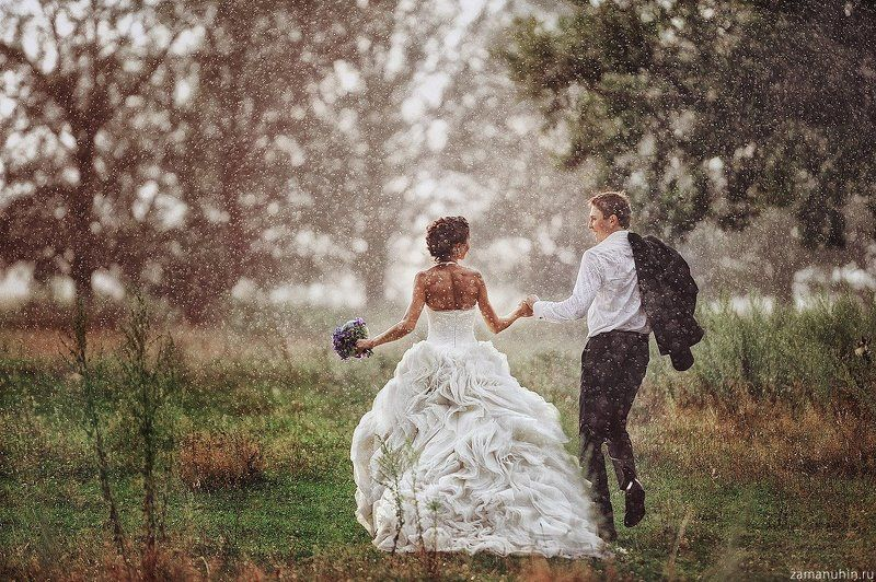 Wedding in the rainphoto preview