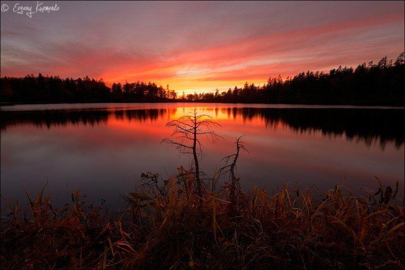 Закат на озере Моховоеphoto preview