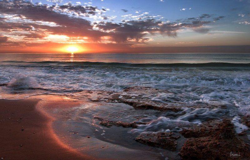 средиземное, море, небо, солнце, бер Закат на Средиземном!photo preview