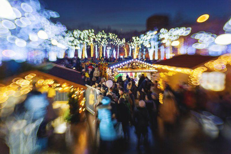Lensbaby, Боке, Москва, Новый год, Огни, Праздники, Россия photo preview