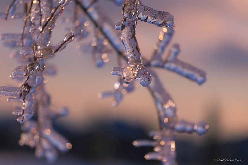 Evening, Ice, Sunset, Winter Happy New Year!photo preview