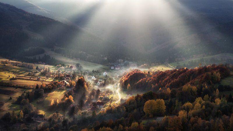 Carpathian Mountains, Rays, Sun, Ukraine, Горы, Карпаты, Лучи, Пилипец, Солнце, Украина Последние теплые лучи, осеннего солнца. (ver.2)photo preview