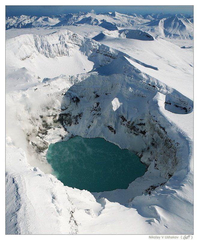 камчатка, вулкан горелый Над кратером Горелого (зимняя)photo preview