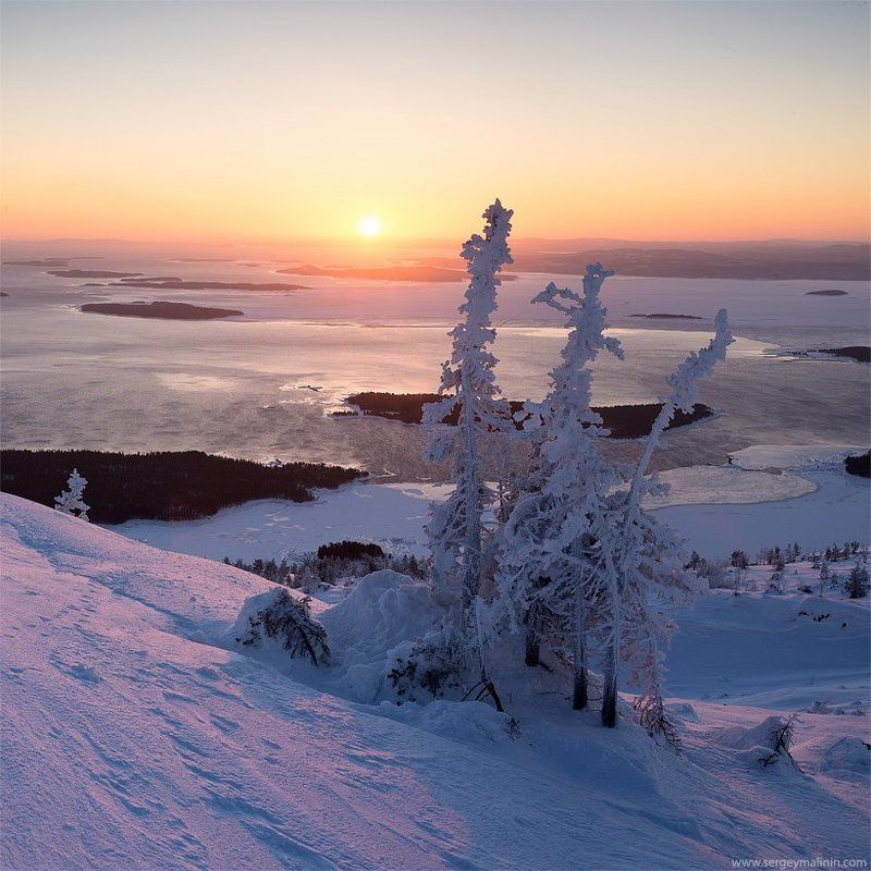 kandalaksha, kola peninsula, sunrise, white sea, белое море, заполярье, зима, кандалакшский залив, кольский, рассвет Розовый мир холодного солнцаphoto preview