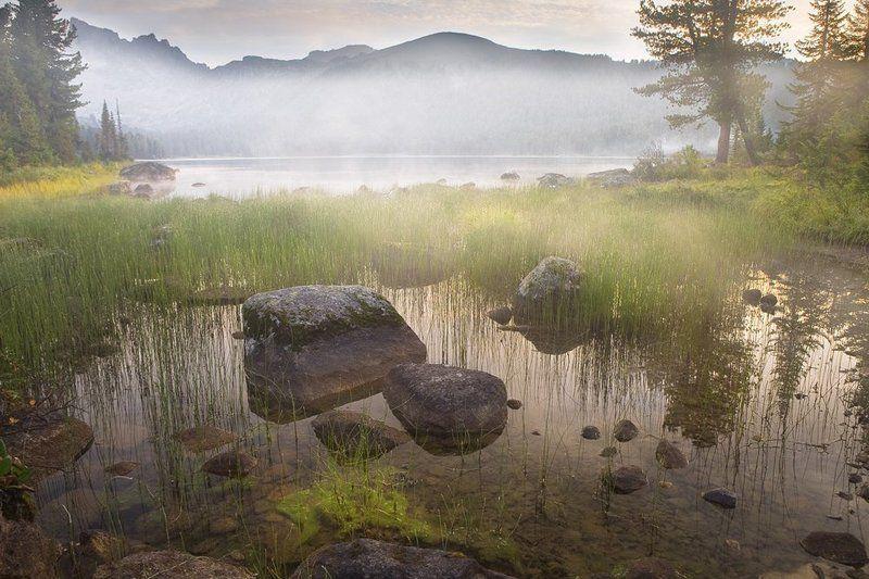 Горы, Ергаки, Поход семьёй Утро туманноеphoto preview