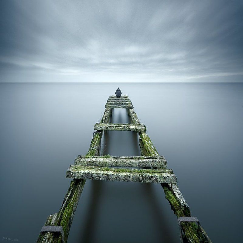 Colors, Lake, Long exposure, Lough Neagh, Man, Northern ireland, Old Bridge Old BridgeIIphoto preview