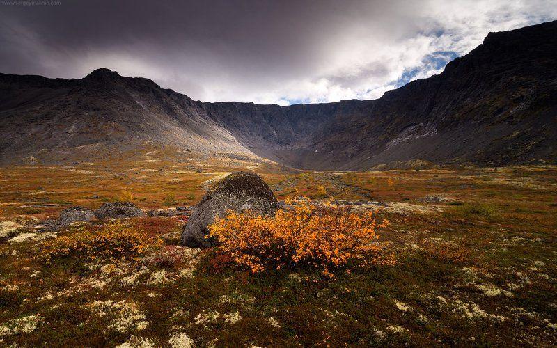Autumn, Khibiny, Light, Mountains, Горы, Кольский, Малая белая, Осень, Хибины Поцелуй осениphoto preview