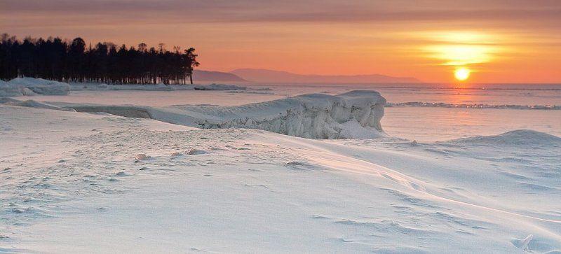 бурятия, байкал, турка, зима, снег, лед, закат * * *photo preview
