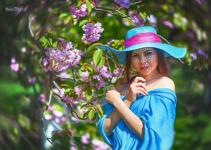 Весна в розово - голобых тонах....photo preview