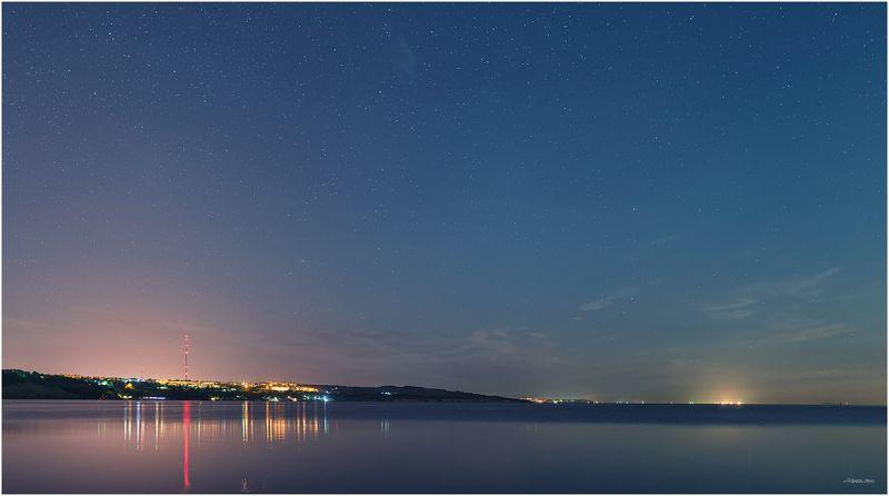 Звезды, Керчь, Крым, Море, Небо, Ночь, Панорама, Черное море ...Родные Берега...photo preview