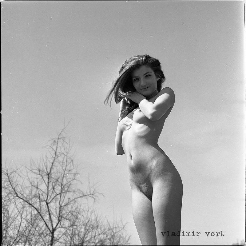 Art nude, Film, Girl, Hasselblad, M-format, Nude, Vladimirvork atop of hillphoto preview