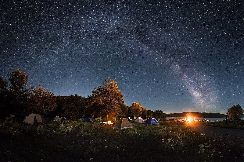 Camp, Dam, Fire, Lake, Milky way, Night, Stars Beneath The Stars We Dancephoto preview