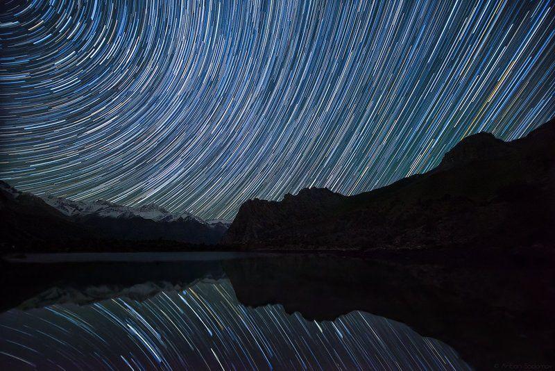 алаудины, озеро, таджикистан, ночь, звезды звездатое озероphoto preview