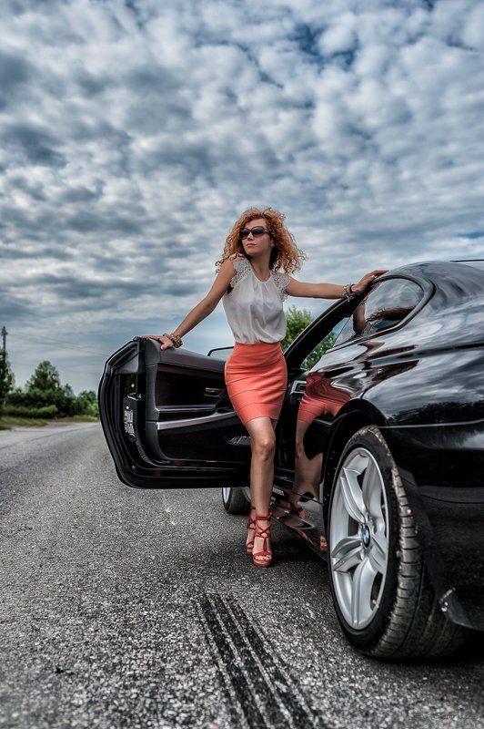 девушка, авто, bmw, лето, дорога, портрет, fashion, beauty Beauty and the beastphoto preview