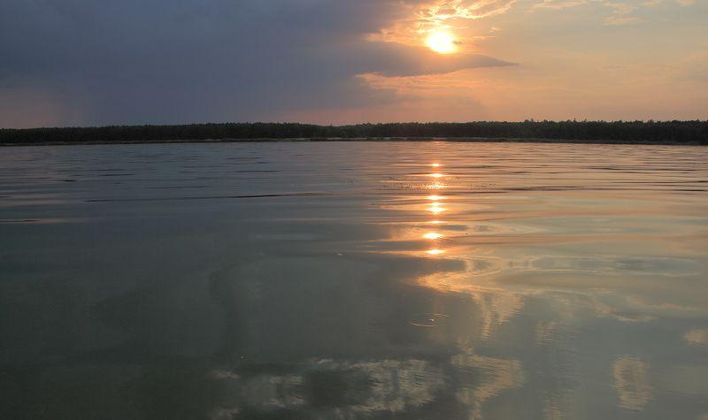 Закат над  Куршским заливомphoto preview