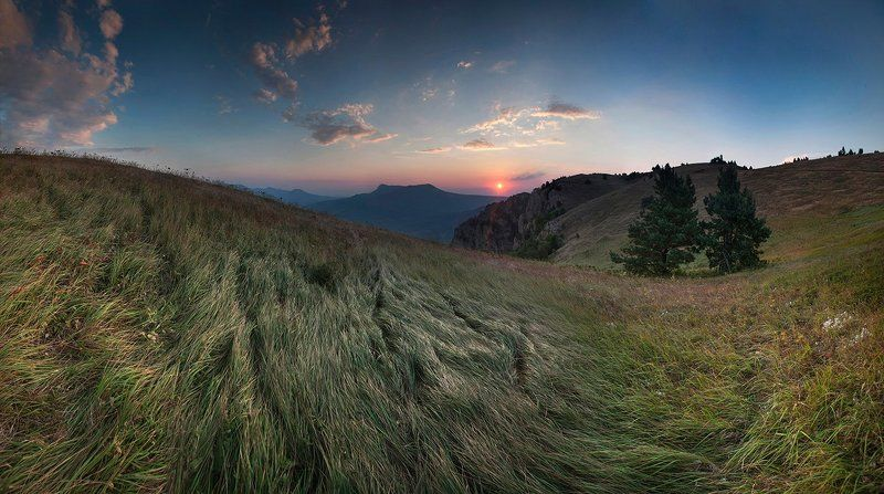 Демерджи, Закат, Закат в горах, Крым Травушка-муравушка :)photo preview