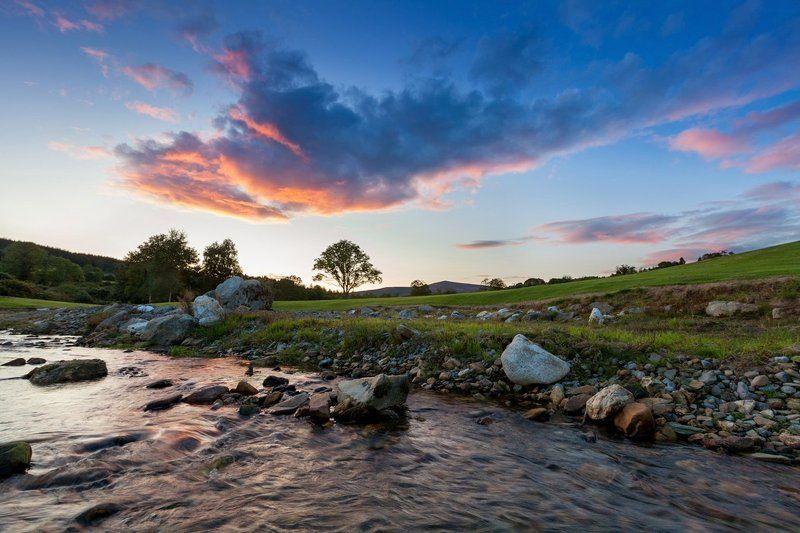Вечер, Дерево, Европа, Закат, Ирландия, Камни, Небо, Пейзаж, Природа, Ручей Ирландияphoto preview