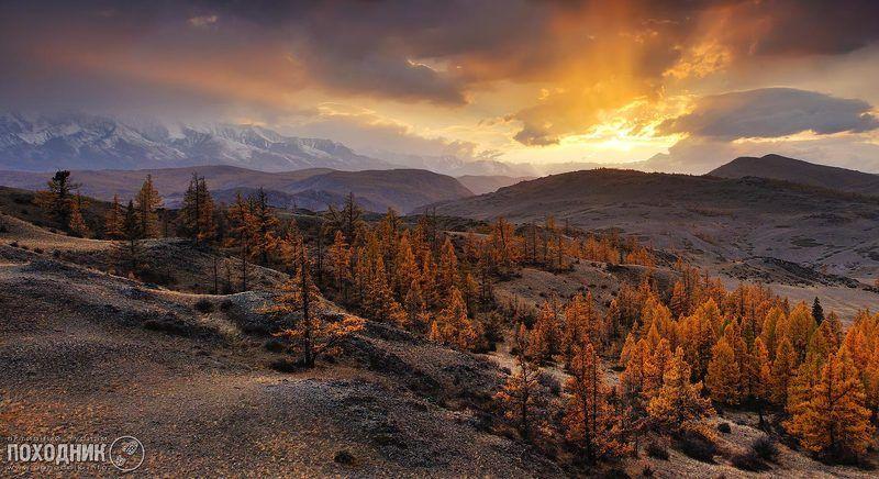 Осенний закат на Алтаеphoto preview