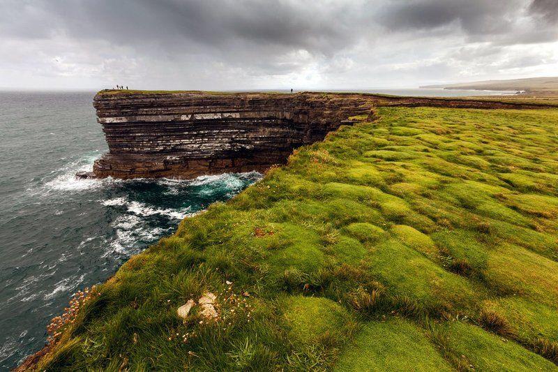 Вода, Дождь, Ирландия, Мох, Океан, Пейзаж, Природа, Скалы, Тучи Ирландияphoto preview
