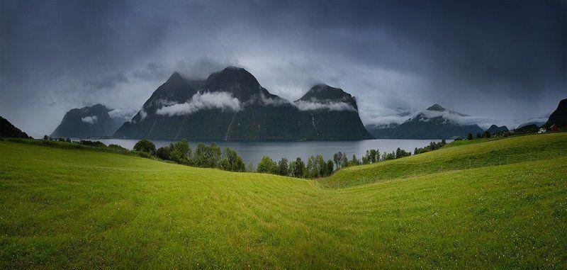 Горы, Норвегия, Озера, Фьорды Какое-то там озероphoto preview