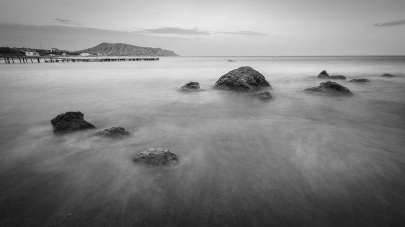 , 2012, nd, крым, море, судак, ч/б, черное у черного моряphoto preview
