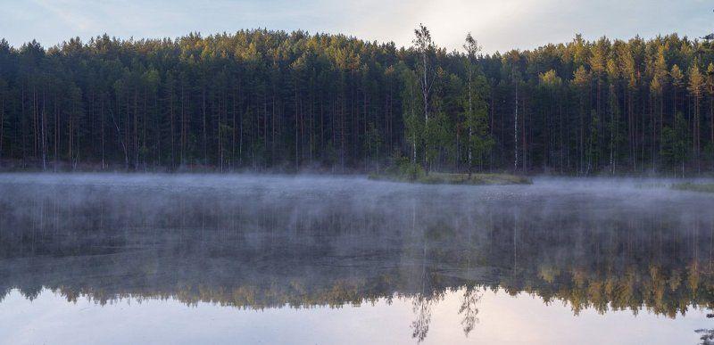 Утро на озере Черешняphoto preview