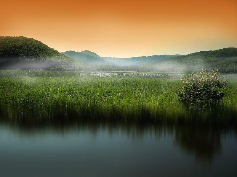 Озера, Озеро, Пейзаж, Приморский край, Приморье, Природа, Триозерье Сны о Триозерьеphoto preview