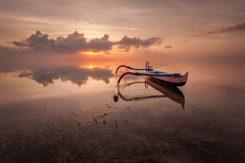 бали, индонезия, море, рассвет, отражение, облака Балийское утроphoto preview