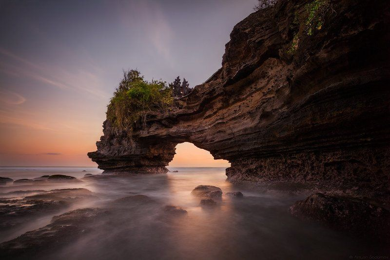 batubolong, батуболнг, бали, индонезия, арка, волны Batu Bolongphoto preview