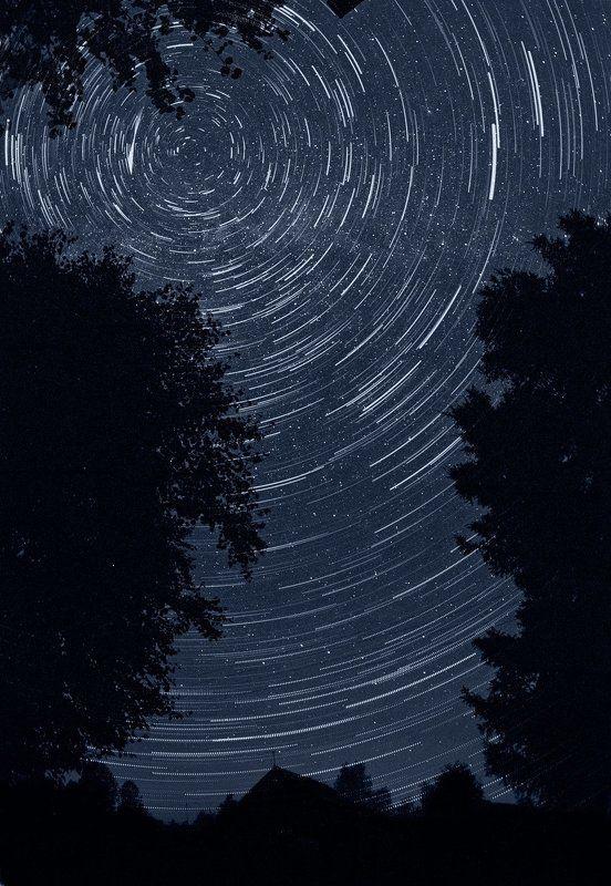 звезды, ночная съемка Звездокружениеphoto preview